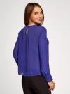 Блузка свободного силуэта с вырезом-капелькой на спине oodji #SECTION_NAME# (фиолетовый), 11411129/45192/7500N - вид 3