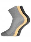 Комплект безбортных носков (3 пары) oodji для женщины (разноцветный), 57102801T3/48022/6 - вид 2