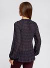 Блузка гофрированная с завязками oodji #SECTION_NAME# (черный), 11414005/46166/2973F - вид 3