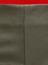 Юбка из искусственной кожи с декоративными молниями oodji для женщины (зеленый), 18H01007/31674/6800N