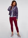Куртка стеганая с круглым вырезом oodji для женщины (фиолетовый), 10203072B/42257/7983E - вид 6
