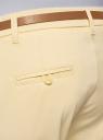 Брюки-чиносы хлопковые oodji для женщины (желтый), 11706193B/42841/5000N