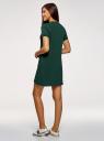 Платье трикотажное свободного силуэта oodji для женщины (зеленый), 14000162B/47481/6900N