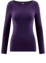 Футболка с длинным рукавом oodji для женщины (фиолетовый), 24201007B/46147/8800N