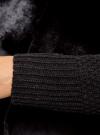 Кардиган вязаный с полами из искусственного меха oodji для женщины (черный), 73205182-1/31328/2900N - вид 5