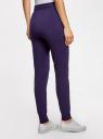 Брюки трикотажные на завязках oodji для женщины (фиолетовый), 16701055B/47999/8800N