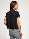Блузка с коротким рукавом oodji #SECTION_NAME# (черный), 11400427/36215/2900N - вид 3