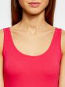 Майка базовая oodji для женщины (розовый), 24315001B/46147/4D00N