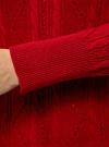 Джемпер фактурной вязки с круглым вырезом oodji #SECTION_NAME# (красный), 63810232/46388/4904N - вид 5