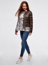 Куртка стеганая с круглым вырезом oodji #SECTION_NAME# (коричневый), 10203050-2B/33445/3900N - вид 6