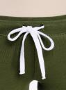 Брюки трикотажные с завязками oodji #SECTION_NAME# (зеленый), 16700045-2B/46949/6900N - вид 4