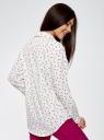 Блузка прямого силуэта с нагрудным карманом oodji для женщины (белый), 11411134B/46123/1229G
