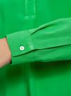 Блузка вискозная А-образного силуэта oodji #SECTION_NAME# (зеленый), 21411113B/26346/6A00N - вид 5