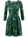 Платье трикотажное приталенное oodji для женщины (зеленый), 14011005-3/46148/6E67F