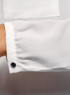 Блузка вискозная с нагрудными карманами oodji #SECTION_NAME# (белый), 21411126-1/48458/1200N - вид 5