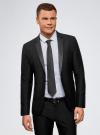 Пиджак приталенный с атласными лацканами oodji для мужчины (черный), 2L420212M/47307N/2900N - вид 2