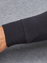 Свитшот хлопковый с контрастными рукавами oodji #SECTION_NAME# (серый), 5B114031M/48820N/2079M - вид 5
