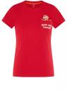 Футболка хлопковая с карманом на груди oodji #SECTION_NAME# (красный), 14701078-6/48369/4519P