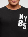 Футболка хлопковая с длинным рукавом oodji #SECTION_NAME# (черный), 5L522102I-1/48918N/2912P - вид 4