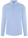 Рубашка extra slim в мелкую клетку oodji #SECTION_NAME# (синий), 3B140003M/39767N/7010C