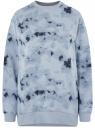 Свитшот свободного силуэта из хлопка oodji для женщины (синий), 14808061/47999/7074T