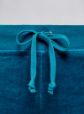 Брюки спортивные на завязках oodji #SECTION_NAME# (бирюзовый), 16701051B/47883/7300N - вид 5
