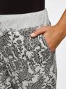 Брюки трикотажные на завязках oodji #SECTION_NAME# (серый), 16701042-1/46919/2329E - вид 5