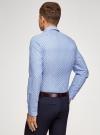 Рубашка принтованная приталенного силуэта oodji #SECTION_NAME# (синий), 3L310141M/46212N/7010E - вид 3