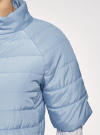 Куртка стеганая с короткими рукавами oodji для женщины (синий), 10207003/45420/7001N - вид 5