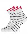 Комплект из трех пар хлопковых носков oodji для женщины (белый), 57102802-3T3/47613/31 - вид 2