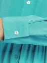 Платье вискозное свободного силуэта oodji #SECTION_NAME# (бирюзовый), 11911036/42540/7300N - вид 5