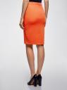 Юбка-карандаш из фактурной ткани oodji #SECTION_NAME# (оранжевый), 14101088-1/42588/5500N - вид 3
