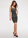 Платье-футляр без рукавов oodji #SECTION_NAME# (черный), 14015001/36233/2933A - вид 6