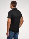 Рубашка базовая с коротким рукавом oodji для мужчины (черный), 3B240000M/34146N/2900N - вид 3