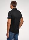 Рубашка базовая с коротким рукавом oodji #SECTION_NAME# (черный), 3B240000M/34146N/2900N - вид 3