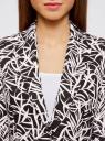 Жакет льняной с широким ремнем oodji #SECTION_NAME# (черный), 21202076-2/45503/2912F - вид 4