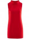 Платье без рукавов прямого кроя oodji #SECTION_NAME# (красный), 11900169/38269/4500N