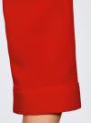 Блузка из струящейся ткани с нагрудными карманами oodji #SECTION_NAME# (красный), 11403225-6B/48853/4500N - вид 5