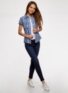 Рубашка клетчатая с коротким рукавом oodji #SECTION_NAME# (синий), 11402084-4/35293/7075C - вид 6
