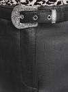 Юбка из искусственной кожи на молнии с ремнем oodji #SECTION_NAME# (черный), 18H01013/49353/2900N - вид 4