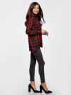 Блузка из вискозы с вышивкой на спине oodji #SECTION_NAME# (красный), 11411171/46974/2945C - вид 6