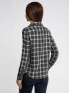 Рубашка в клетку с карманами oodji #SECTION_NAME# (зеленый), 11400433-1/43223/6E12C - вид 3