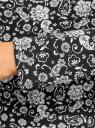 Водолазка хлопковая oodji для женщины (черный), 15E02001/46147/2930E