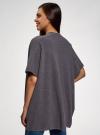 Кардиган без застежки с люрексом oodji для женщины (серый), 64512029-1/48171/2500X - вид 3