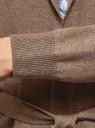 Кардиган с поясом и накладными карманами oodji #SECTION_NAME# (коричневый), 63212601/43755/3900M - вид 5