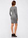 Платье вязаное базовое oodji #SECTION_NAME# (серый), 73912217-2B/33506/2300M - вид 3