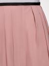 Юбка в складку с запахом oodji #SECTION_NAME# (розовый), 13G00003B/42662/4A00N - вид 4