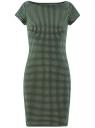 Платье трикотажное принтованное oodji #SECTION_NAME# (зеленый), 14001117-7/16564/6912G