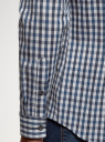 Рубашка в клетку с длинным рукавом oodji #SECTION_NAME# (синий), 3B110028M/39767N/7910C - вид 5