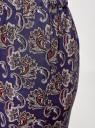 Брюки вискозные на завязках oodji для женщины (синий), 13F11001B/26346/7930E
